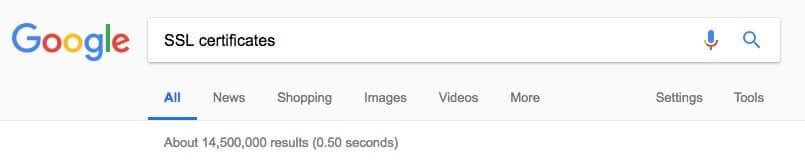 Google Search - SSL Certificates