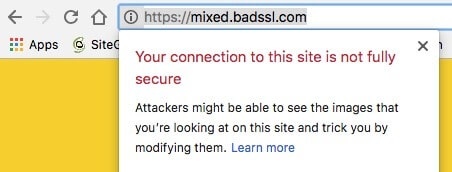 Mixed Content Warning Chrome