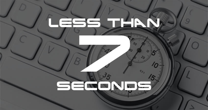 Any idea how long typical users will stay on a new website before leaving? 7 seconds; less if you offer a poor user experience. Make 7 seconds count!