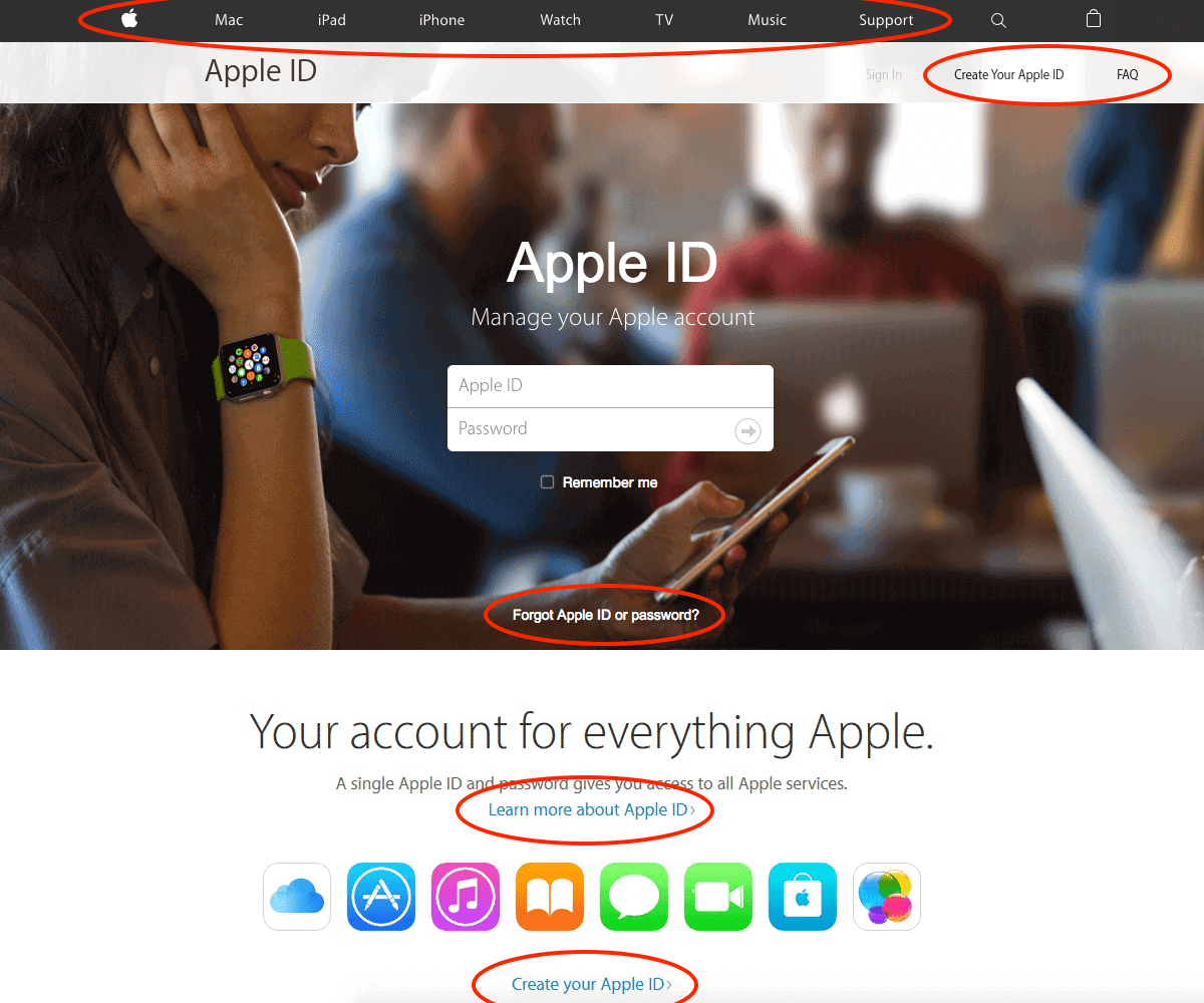 Image depicts a fraudulent website claiming to be https://apple.com, attempting to steal your personal information.